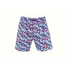 Трусы-боксеры свободные мужские Cornette Kaleidoscope голубые