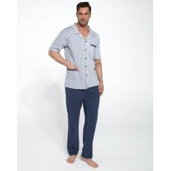 Костюм домашний мужской (пижама) Cornette Flags синий