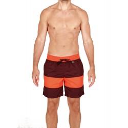 Шорты текстильные пляжные мужские HOM Barbado бордовые