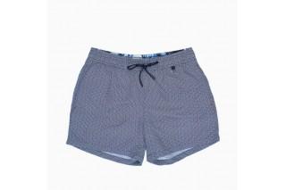 Шорты текстильные пляжные мужские HOM Topaz бело-синие