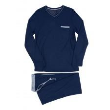 Костюм домашний (пижама) HOM Relax long темно-синий