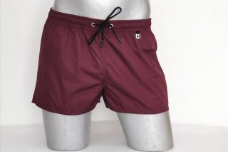 Шорты текстильные пляжные мужские HOM Sunlight Shorts бордовые