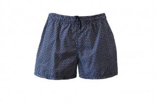Шорты текстильные пляжные мужские HOM Fishbone темно-синие