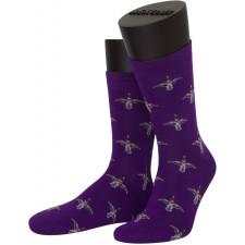 Носки unisex ASKOMI AF-C7010 фиолетовые