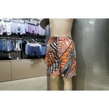 Шорты текстильные пляжные для мальчиков eleMar Geometria серо-оранжевые